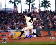 San Francisco Giants Johnny Cueto Signed Home Pitching 8 x 10 Photo
