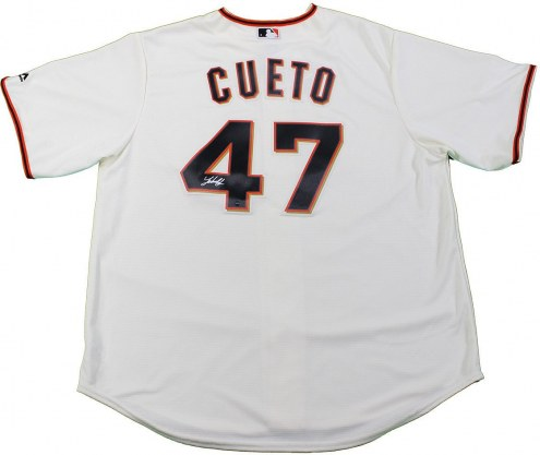 San Francisco Giants Johnny Cueto Signed Majestic Ivory Replica Home Jersey
