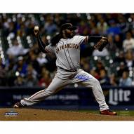 San Francisco Giants Johnny Cueto Signed Pitching 16 x 20 Photo