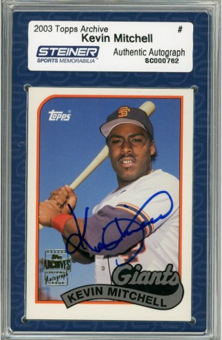 San Francisco Giants Kevin Mitchell Signed 2003 Topps Card