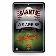 San Francisco Giants Large Embossed Metal Wall Sign