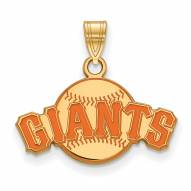 San Francisco Giants Sterling Silver Gold Plated Small Pendant