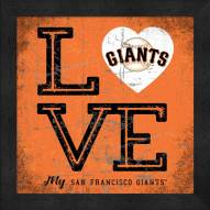 San Francisco Giants Love My Team Color Wall Decor