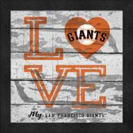 San Francisco Giants Love My Team Square Wall Decor