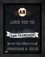 San Francisco Giants Love You to and Back Framed Print