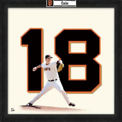 San Francisco Giants Matt Cain Uniframe Framed Jersey Photo