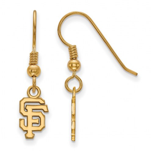 San Francisco Giants MLB Sterling Silver Gold Plated Extra Small Dangle Earrings