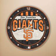 San Francisco Giants MLB Stained Glass Wall Clock