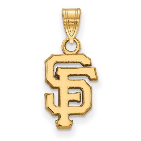 San Francisco Giants MLB Sterling Silver Gold Plated Small Pendant