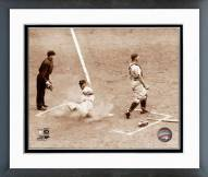 San Francisco Giants Monte Irvin Sliding In Home Framed Photo