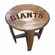 San Francisco Giants Oak Barrel Table