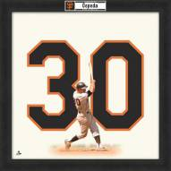 San Francisco Giants Orlando Cepeda Uniframe Framed Jersey Photo