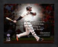 San Francisco Giants Pablo Sandoval Framed Pro Quote