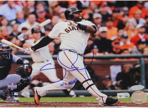 San Francisco Giants Pablo Sandoval Signed 2012 WS Facing Right 8 x 10 Photo w/ WS MVP