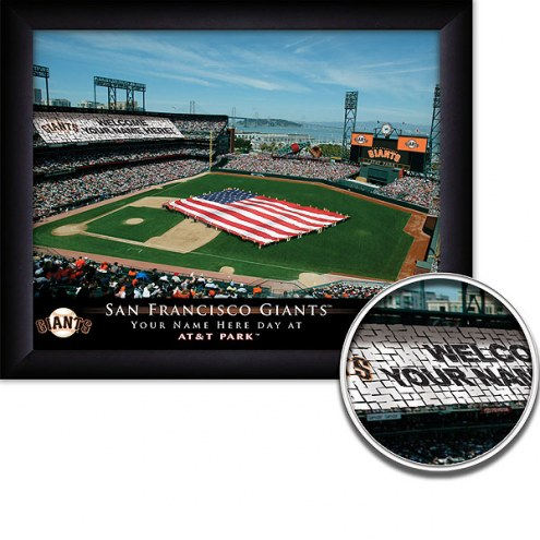 San Francisco Giants 11 x 14 Personalized Framed Stadium Print
