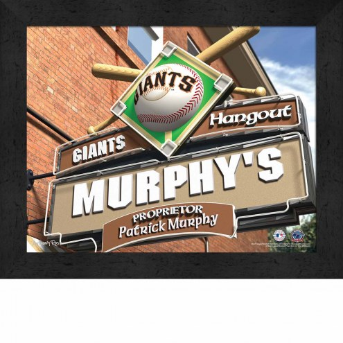 San Francisco Giants 11 x 14 Personalized Framed Sports Pub Print