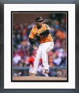 San Francisco Giants Santiago Casilla Action Framed Photo