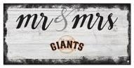 San Francisco Giants Script Mr. & Mrs. Sign