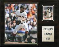 "San Francisco Giants Sergio Romo 12"" x 15"" Player Plaque"