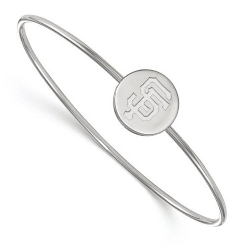 San Francisco Giants Sterling Silver Bangle Slip on Bracelet