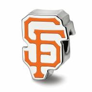 San Francisco Giants Sterling Silver Enameled Bead