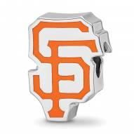 San Francisco Giants Sterling Silver Enameled Bead