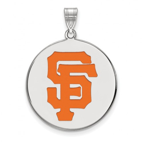 San Francisco Giants Sterling Silver Extra Large Enameled Disc Pendant
