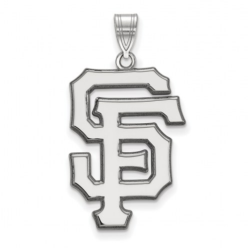 San Francisco Giants Sterling Silver Extra Large Pendant