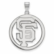 San Francisco Giants Sterling Silver Large Circle Pendant
