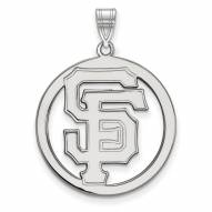 San Francisco Giants Sterling Silver Large Circle Pendant