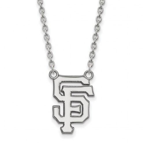 San Francisco Giants Sterling Silver Large Pendant Necklace