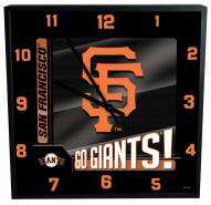 San Francisco Giants Team Black Square Clock