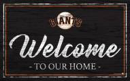 San Francisco Giants Team Color Welcome Sign