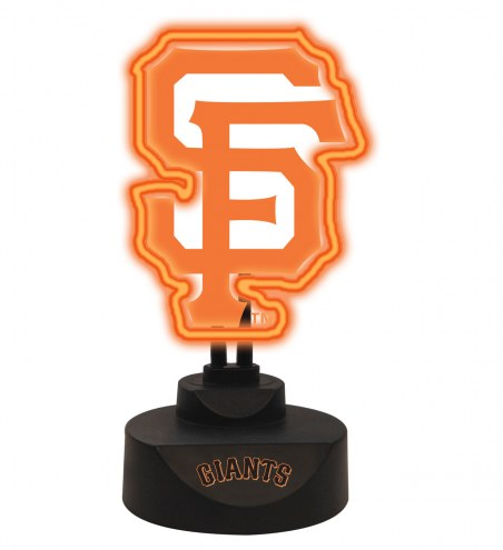 San Francisco Giants Team Logo Neon Light