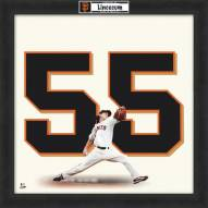San Francisco Giants Tim Lincecum Uniframe Framed Jersey Photo