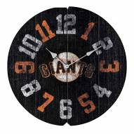 San Francisco Giants Vintage Round Clock