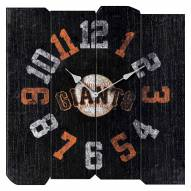 San Francisco Giants Vintage Square Clock