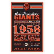 San Francisco Giants Established Wood Sign