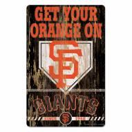 San Francisco Giants Slogan Wood Sign