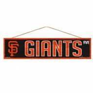 San Francisco Giants Wood Avenue Sign