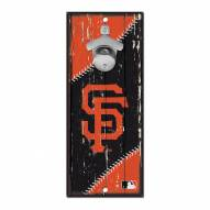 San Francisco Giants Wood Bottle Opener