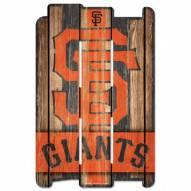 San Francisco Giants Wood Fence Sign