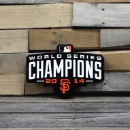 "San Francisco Giants WS 2014 12"" Steel Logo Sign"