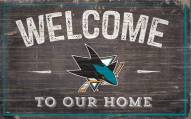 """San Jose Sharks 11"""" x 19"""" Welcome to Our Home Sign"""
