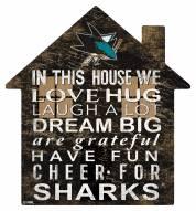 """San Jose Sharks 12"""" House Sign"""