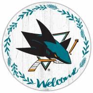 """San Jose Sharks 12"""" Welcome Circle Sign"""