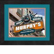 San Jose Sharks 13 x 16 Personalized Framed Sports Pub Print