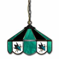 "San Jose Sharks 14"" Glass Pub Lamp"
