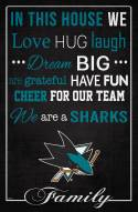 """San Jose Sharks 17"""" x 26"""" In This House Sign"""