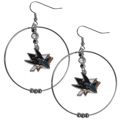 "San Jose Sharks 2"" Hoop Earrings"